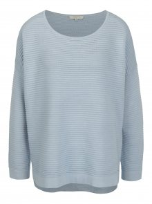 Světle modrý žebrovaný svetr Selected Femme Laua