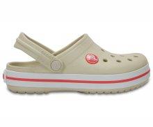 Crocs béžové dětské boty Crocband Clog Kids Stucco/Melon - C7