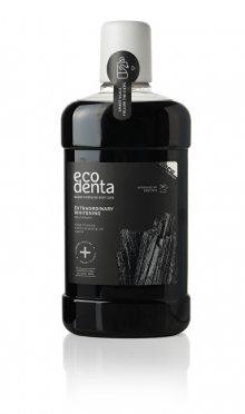 Ecodenta Extra bělicí ústní voda s černým uhlím (Extra Whitening Mouthwash With Black Charcoal) 500 ml