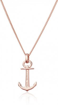 Paul Hewitt Růžově pozlacený stříbrný náhrdelník s kotvou PH-AN-R (řetízek, přívěsek)