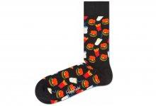 Hamburger Ponožky Happy Socks | Černá | Pánské | 36-40