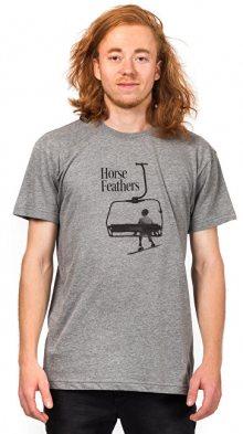 Horsefeathers Pánské tričko Gump Heather Gray SM936B L