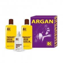 BK Brazil Keratin Argan pro suché a poškozené vlasy šampon 300 ml + kondicionér 300 ml + olej / sérum 100 ml dárková sada