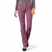 Blancheporte Strečové rovné kalhoty purpurová 42