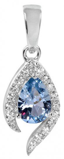 Silver Cat Stříbrný přívěsek s modrým krystalem SC116