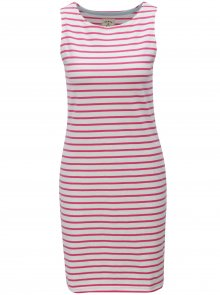 Růžovo-bílé dámské pruhované šaty Tom Joule Jersey