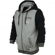 Puma Style Athl HD Sweat JKT Tr šedá M