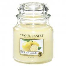 Yankee candle Vonná svíčka ve skle - Sicilský citrón, 410g\n\n
