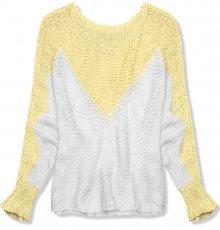 Žlutý pulovr s netopýřími rukávy