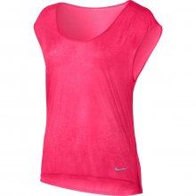 Nike W Nk Brthe Top Ss Cool růžová S