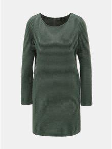 Zelené mikinové žebrované šaty ONLY Naomi