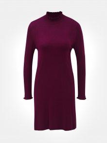Tmavě růžové svetrové šaty se stojáčkem ONLY Mila