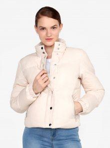 Krémová zimní bunda Miss Selfridge