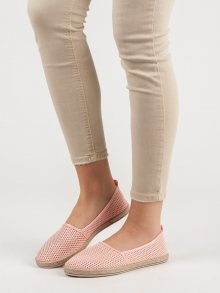 Luxusní růžové  tenisky dámské bez podpatku