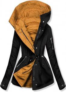 Černo-žlutá oboustranná jarní bunda
