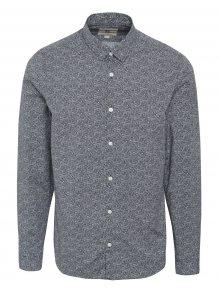 Tmavě modrá pánská vzorovaná košile Garcia Jeans