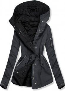 Šedo-černá oboustranná jarní bunda