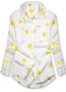 Bílo-žlutá košile se srdíčky