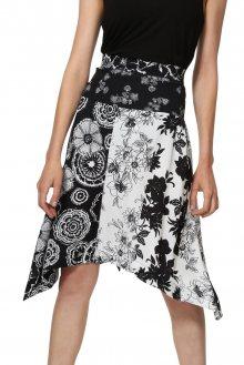 Desigual černo-bílá sukně Fal Paola - 38