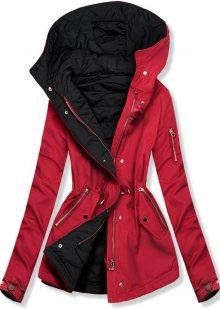 Červeno-černá oboustranná jarní bunda