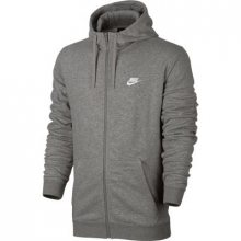 Nike M Nsw Hood Ft Club šedá M