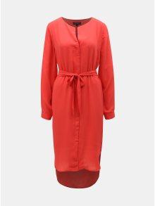 Červené košilové šaty Selected Femme Dynella