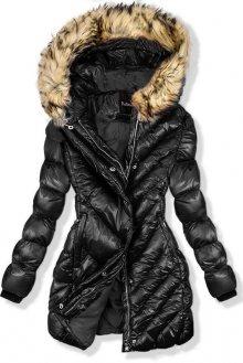 Černá zimní lesklá bunda