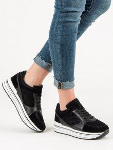 Klasické černé  tenisky dámské bez podpatku