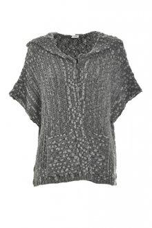Deha Dámský kardigan Hoodie Sweater D63030 Dark Grey Mel.Lange L
