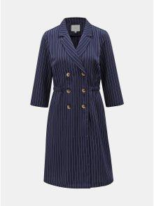 Tmavě modré pruhované šaty s knoflíky VILA Enrica