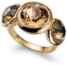 Oliver Weber Pozlacený prsten s krystaly Working Every 41130 246 M (53 - 55 mm)