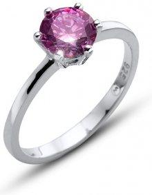 Oliver Weber Stříbrný prsten s fialovým krystalem Morning Brilliance Large 63221 PUR M (53 - 55 mm)