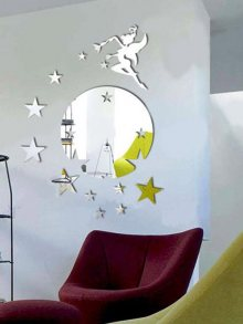 Walplus Dekorativní zrcadlová samolepka\n\n