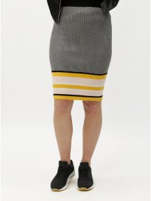 Žluto-šedá vzorovaná pouzdrová sukně ONLY Sigrid