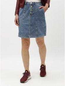 Modrá džínová sukně s knoflíky Jacqueline de Yong Lola