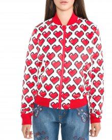 Bunda Love Moschino | Červená Bílá | Dámské | S