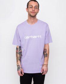 Carhartt WIP Script T-Shirt Soft Lavender/White L