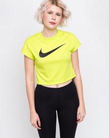 Nike Swoosh Sportswear Crop Top Cyber/Black L