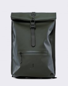 Rains Roll Top Rucksack 03 Green