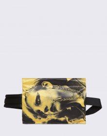 Eastpak Raf Simons Poster Waistbag Black Satin Punk Yellow