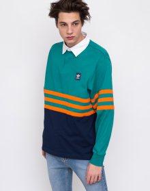 adidas Originals Winchell Polo Active Green/Collegiate Navy/Orange L