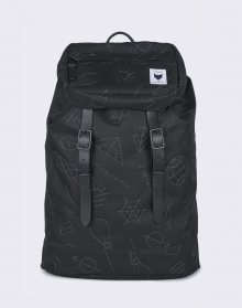The Pack Society Premium Black with Grey Embroidery