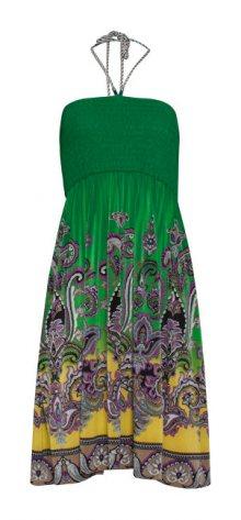 Smashed Lemon Dámské šaty Yellow/Green 19011 XS