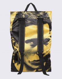 Eastpak Raf Simons Poster Backpack Black Satin Boy Yellow