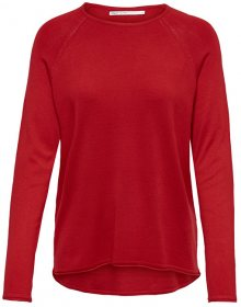 ONLY Dámský svetr Mila Lacy L/S Pullover Knt Noos High Risk Red XS