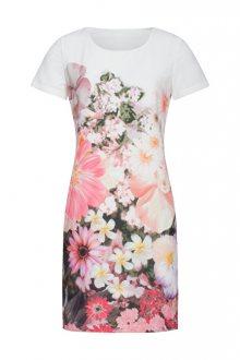 Smashed Lemon Dámské šaty White/Pink 19105 S