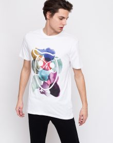 Knowledge Cotton T-shirt With Owl And Dot Print 1010 Bright White L