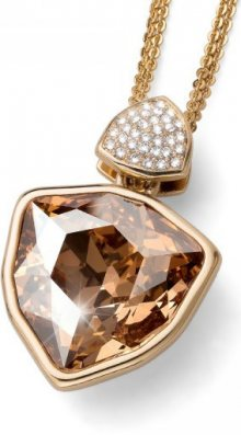 Oliver Weber Pozlacený náhrdelník s velkým zlatavým krystalem Ocean Trilli Large 11728G