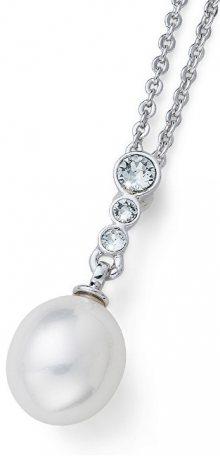 Oliver Weber Náhrdelník s perličkou a krystaly Ocean Poet 11708