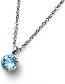 Oliver Weber Náhrdelník se světle modrým krystalem Ocean Uno 11740 202